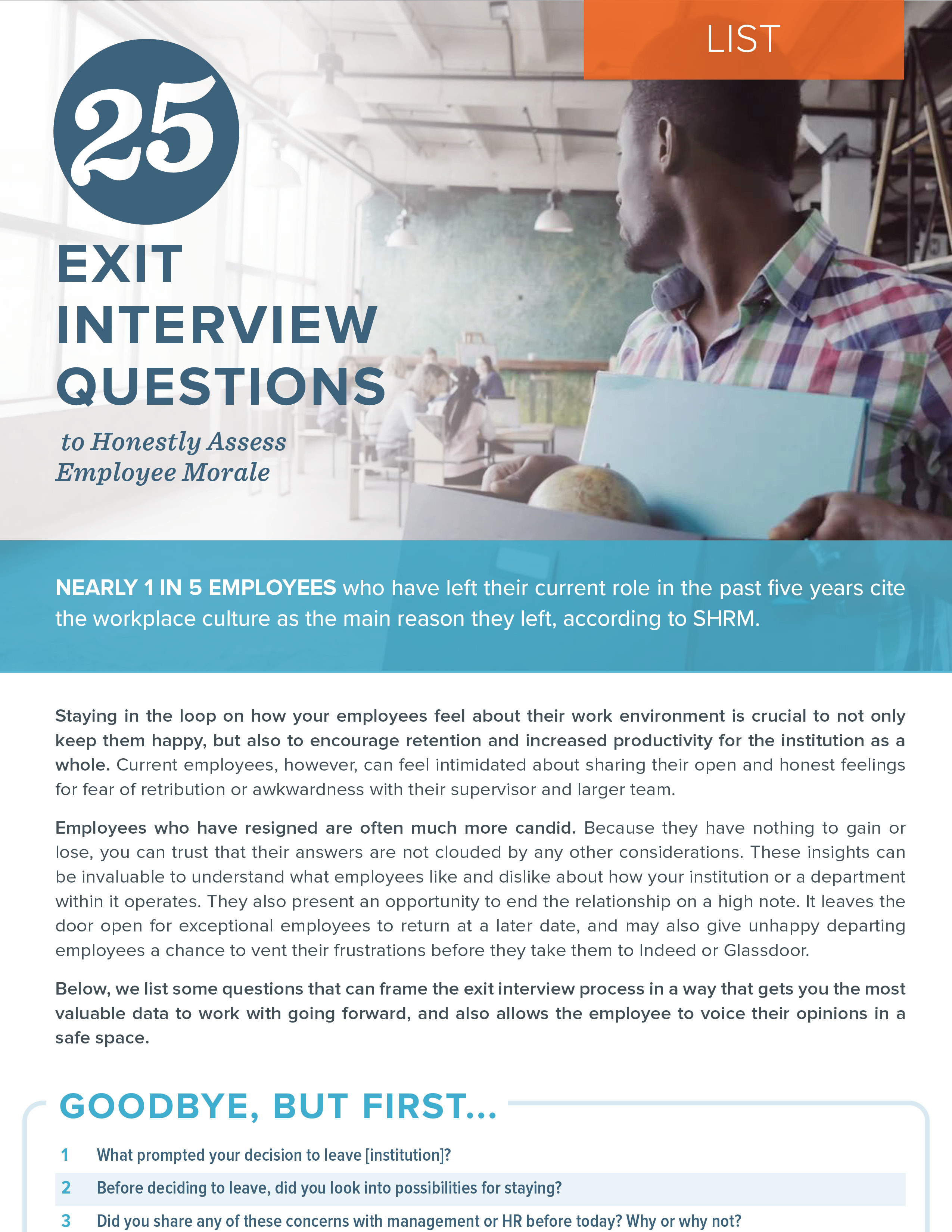 NEOED 25 Exit Interview Questions